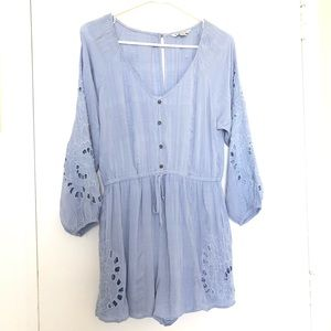 NWOT American Eagle Long Sleeve Embroidered Romper